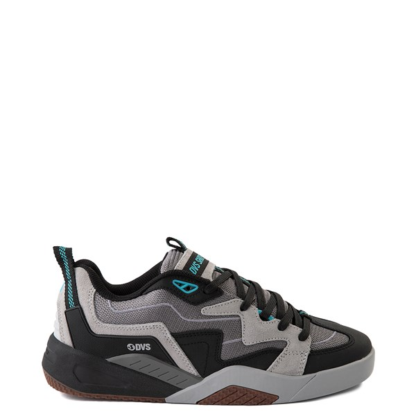 Mens DVS Devious Skate Shoe - Charcoal / Black / Turquoise