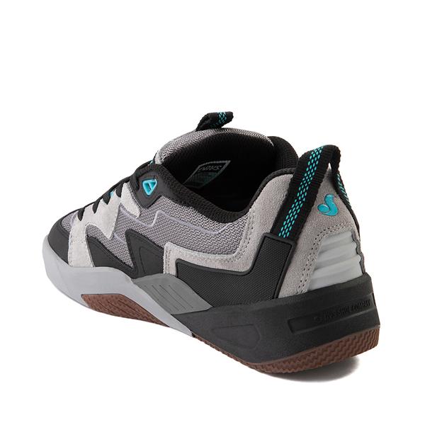 alternate view Mens DVS Devious Skate Shoe - Charcoal / Black / TurquoiseALT1