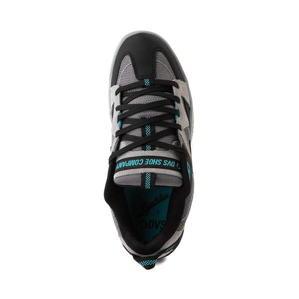 alternate view Mens DVS Devious Skate Shoe - Charcoal / Black / TurquoiseALT2