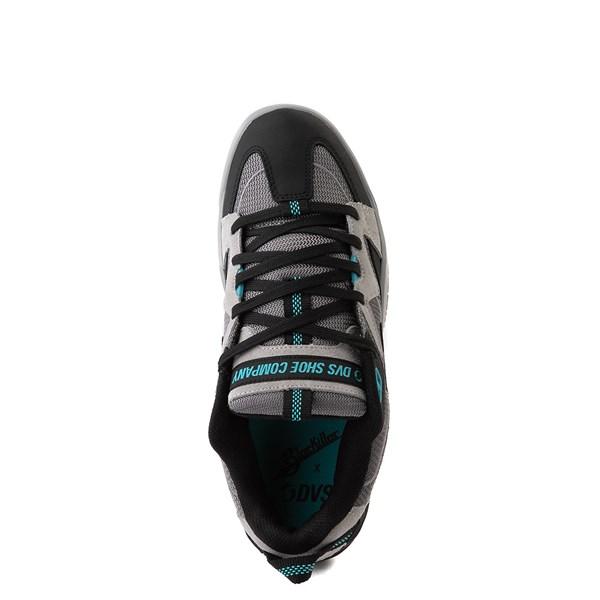 alternate view Mens DVS Devious Skate Shoe - Charcoal / Black / TurquoiseALT4B