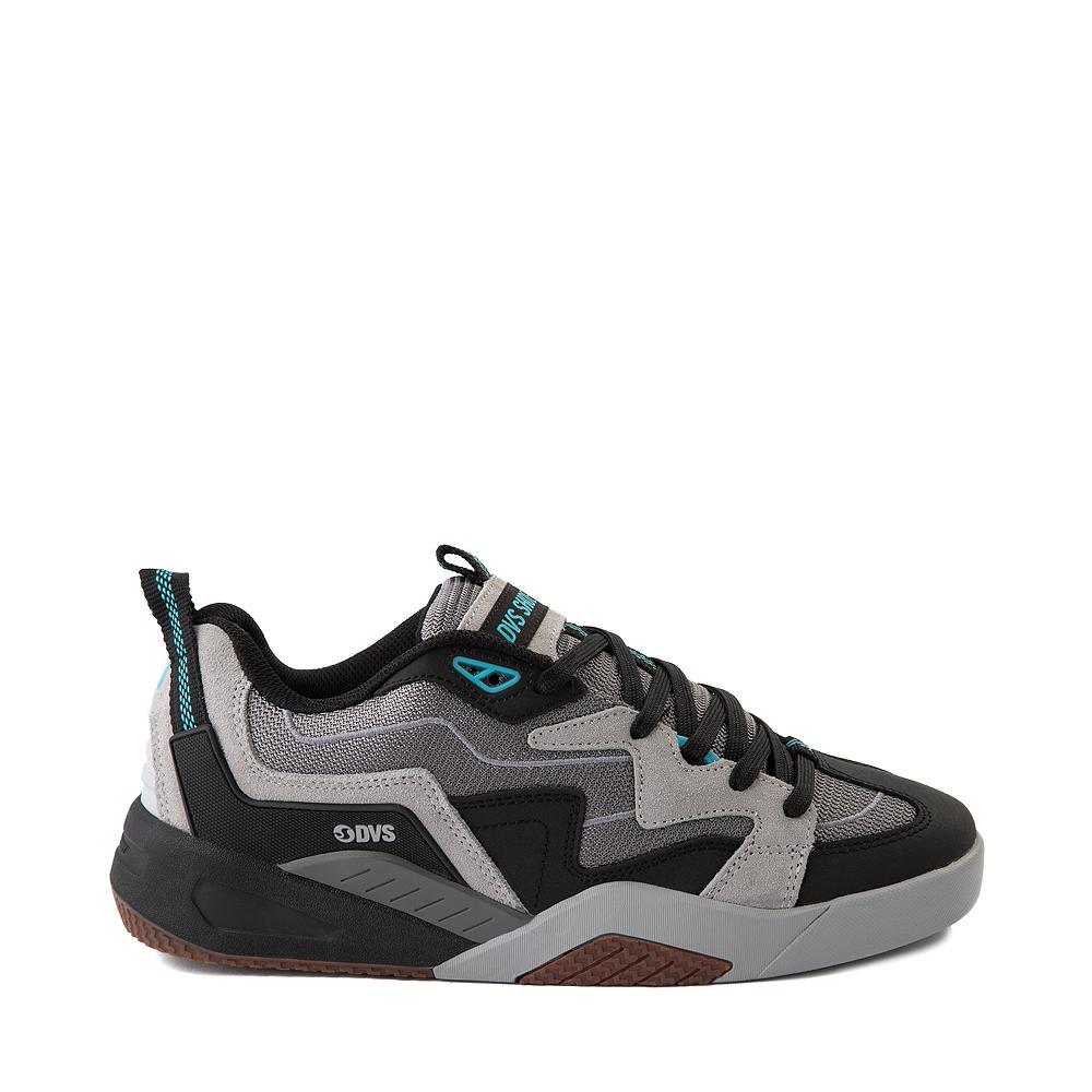 Mens DVS Devious Skate Shoe - Charcoal / Black / Turquoise