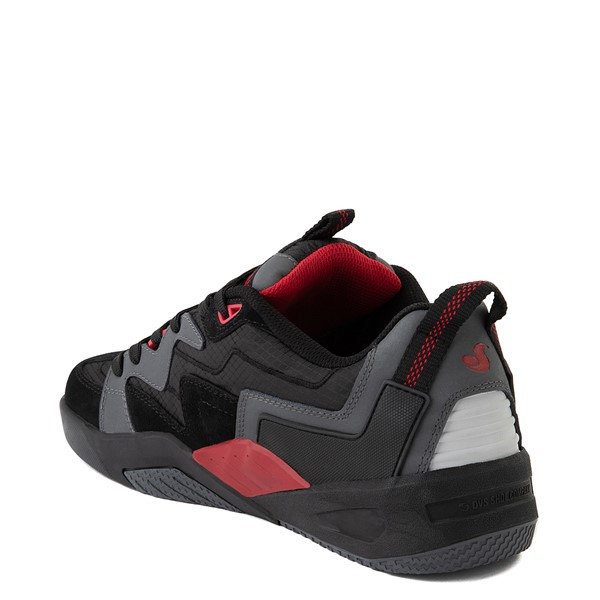 alternate view Mens DVS Devious Skate Shoe - Charcoal / Black / RedALT1