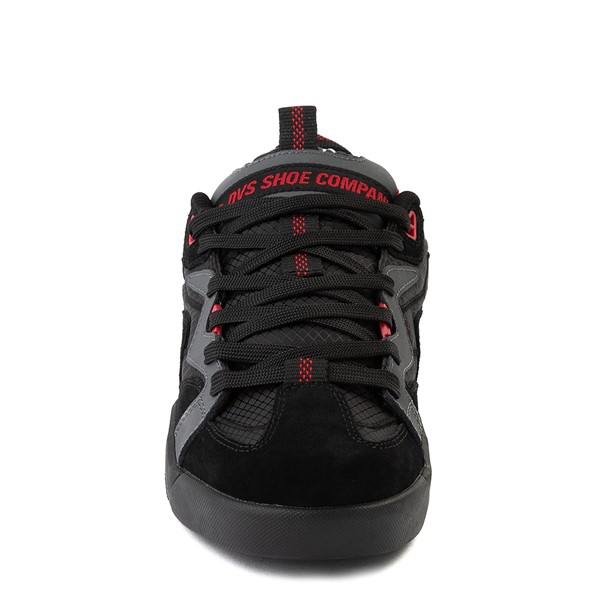alternate view Mens DVS Devious Skate Shoe - Charcoal / Black / RedALT4