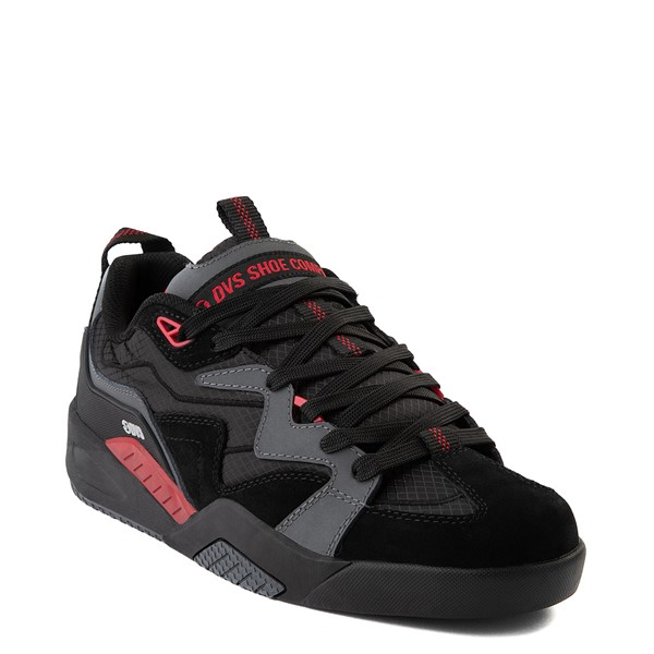 alternate view Mens DVS Devious Skate Shoe - Charcoal / Black / RedALT5