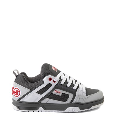 Main view of Mens DVS Comanche Skate Shoe - Charcoal / White / Red