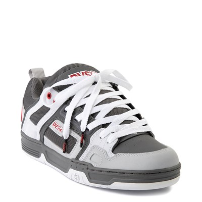 Alternate view of Mens DVS Comanche Skate Shoe - Charcoal / White / Red