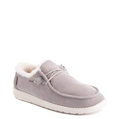 Alternate view of Womens Hey Dude Wendy Corduroy Slip On Casual Shoe - Gray
