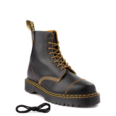 Alternate view of Womens Dr. Martens 1460 Pascal Bex Double Stitch 8-Eye Boot - Black
