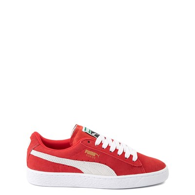 Main view of Puma Suede Athletic Shoe - Big Kid - Red
