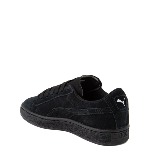 alternate view Puma Suede Athletic Shoe - Big Kid - Black MonochromeALT2