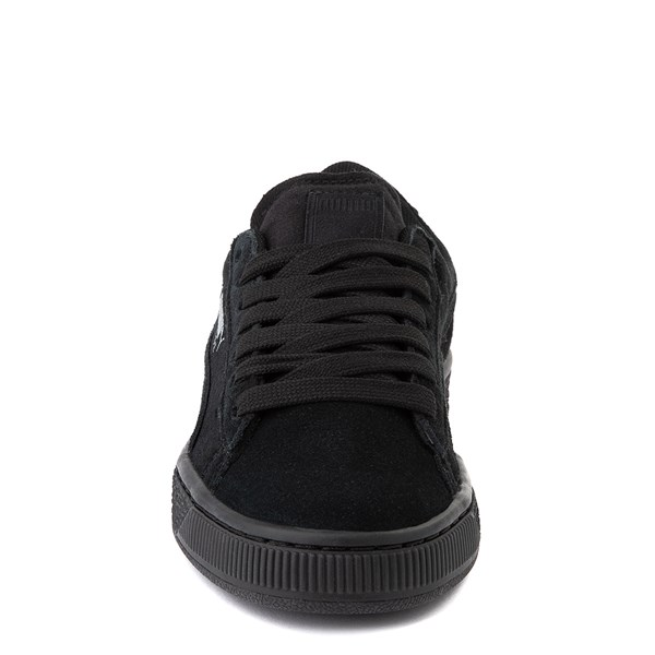 alternate view Puma Suede Athletic Shoe - Big Kid - Black MonochromeALT4