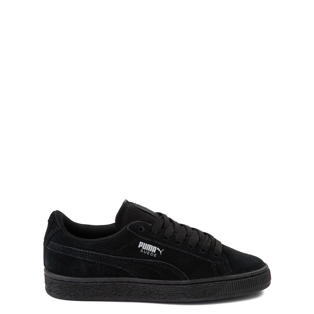 Puma Suede Athletic Shoe - Big Kid - Black Monochrome