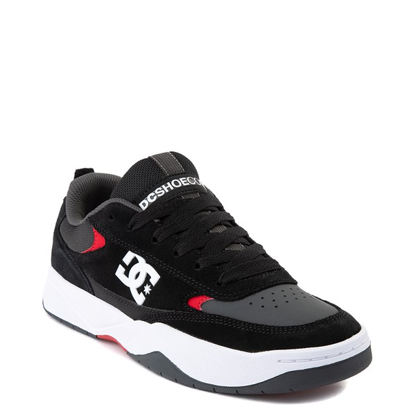 alternate view Mens DC Penza Skate Shoe - Gray / Black / RedALT1