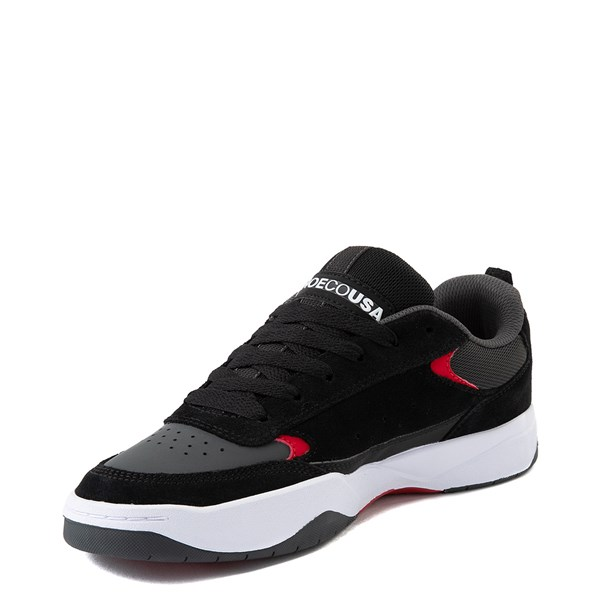 alternate view Mens DC Penza Skate Shoe - Gray / Black / RedALT3
