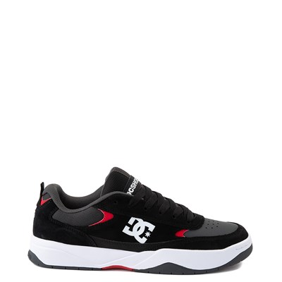 Main view of Mens DC Penza Skate Shoe - Gray / Black / Red