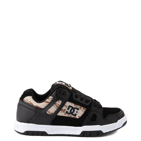 Mens DC Stag Skate Shoe - Black / Desert Camo