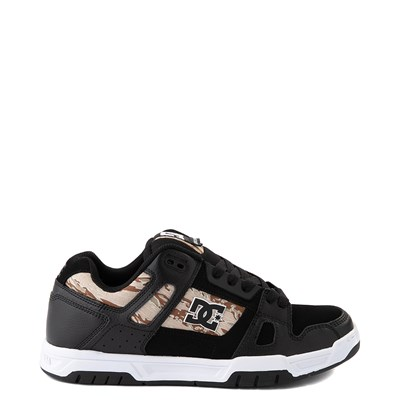 Main view of Mens DC Stag Skate Shoe - Black / Desert Camo