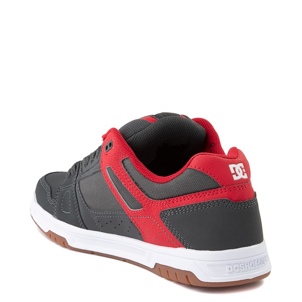 alternate view Mens DC Stag Skate Shoe - Red / GrayALT2