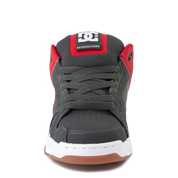 alternate view Mens DC Stag Skate Shoe - Red / GrayALT4