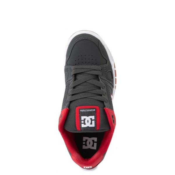 alternate view Mens DC Stag Skate Shoe - Red / GrayALT4B