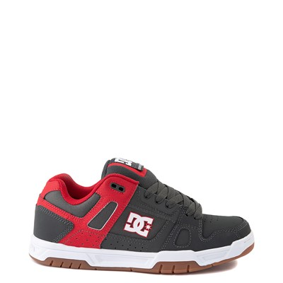 Main view of Mens DC Stag Skate Shoe - Red / Gray