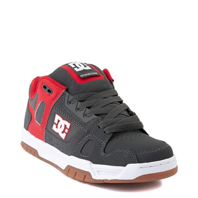 Alternate view of Mens DC Stag Skate Shoe - Red / Gray