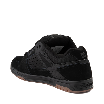 Alternate view of Mens DC Stag Skate Shoe - Black / Gum