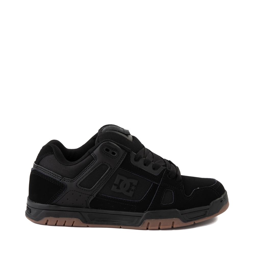 Mens DC Stag Skate Shoe - Black / Gum