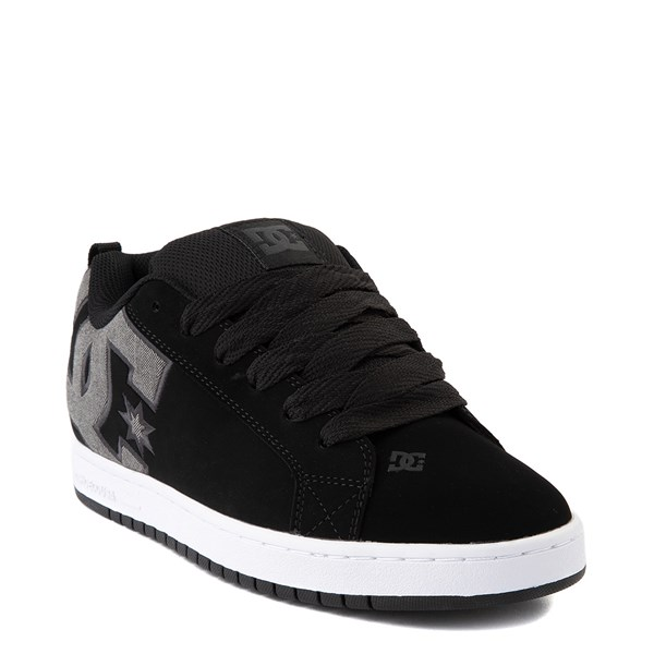 alternate view Mens DC Court Graffik SE Skate Shoe - Black / GrayALT1