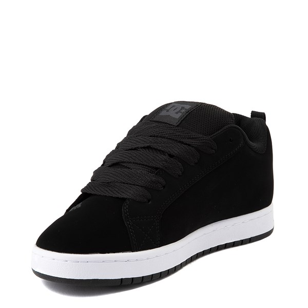 alternate view Mens DC Court Graffik SE Skate Shoe - Black / GrayALT3