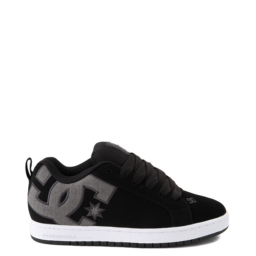 Mens DC Court Graffik SE Skate Shoe - Black / Gray