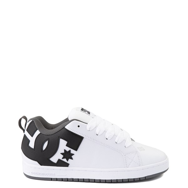 Mens DC Court Graffik Skate Shoe - White / Black / Gray