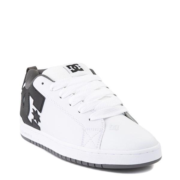 alternate view Mens DC Court Graffik Skate Shoe - White / Black / GrayALT1