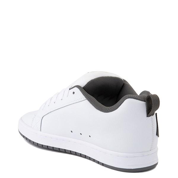 alternate view Mens DC Court Graffik Skate Shoe - White / Black / GrayALT2