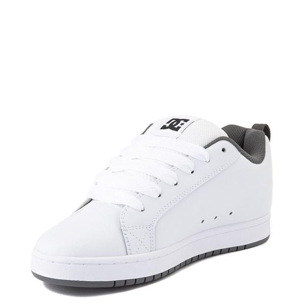 alternate view Mens DC Court Graffik Skate Shoe - White / Black / GrayALT3