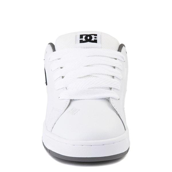 alternate view Mens DC Court Graffik Skate Shoe - White / Black / GrayALT4