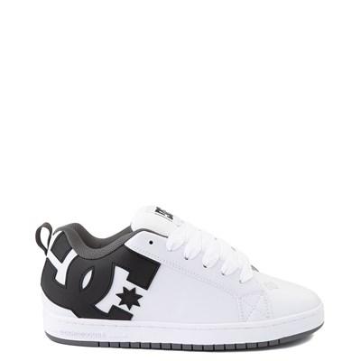 Main view of Mens DC Court Graffik Skate Shoe - White / Black / Gray