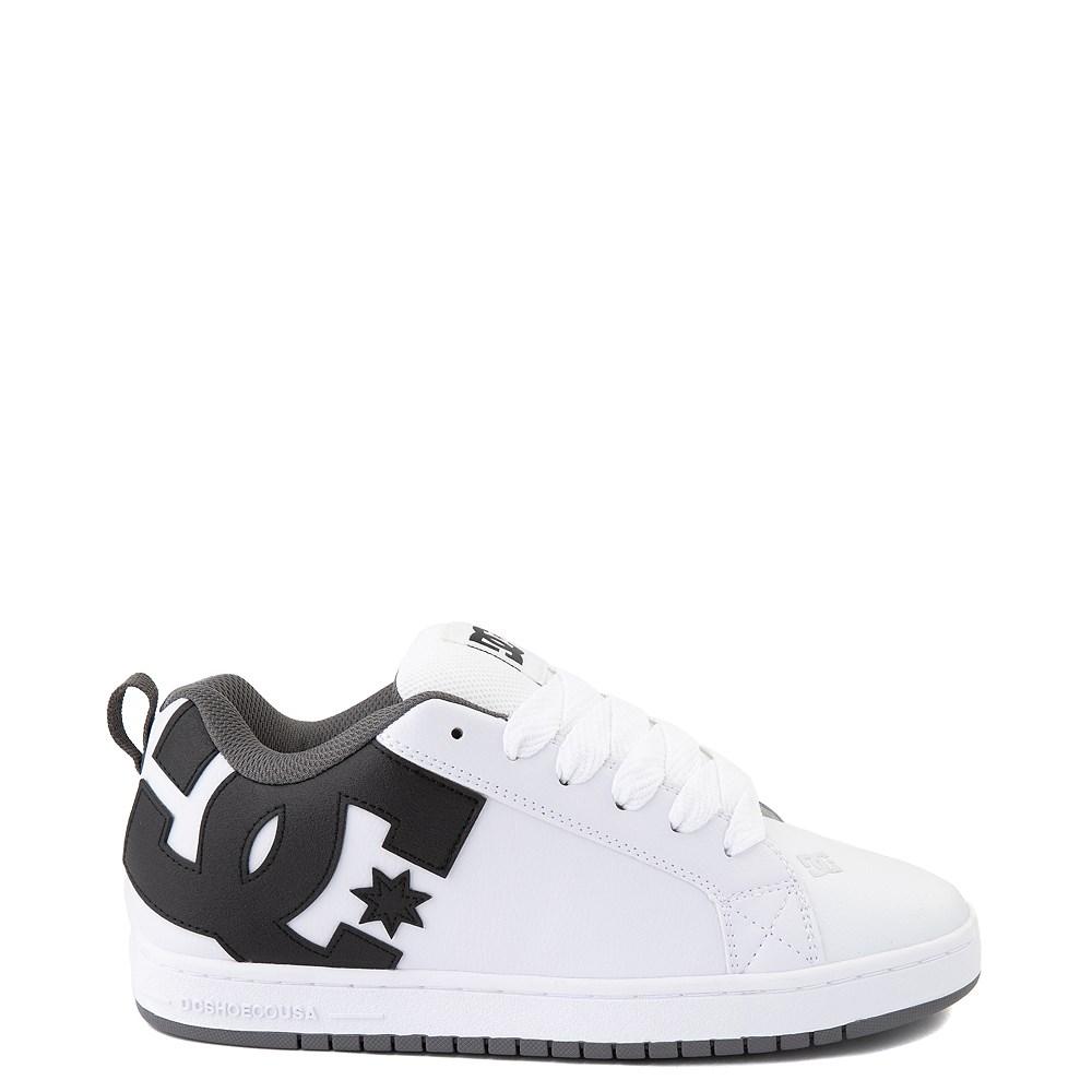 Mens DC Court Graffik Skate Shoe - White / Black / Gray