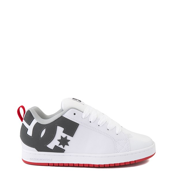 Mens DC Court Graffik Skate Shoe - White / Gray