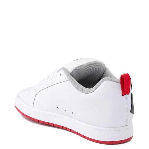 alternate view Mens DC Court Graffik Skate Shoe - White / GrayALT2