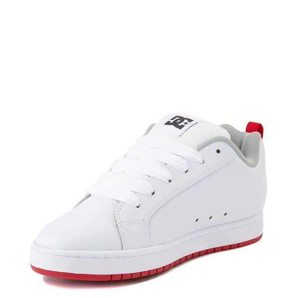 alternate view Mens DC Court Graffik Skate Shoe - White / GrayALT3
