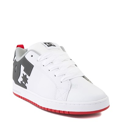 Alternate view of Mens DC Court Graffik Skate Shoe - White / Gray