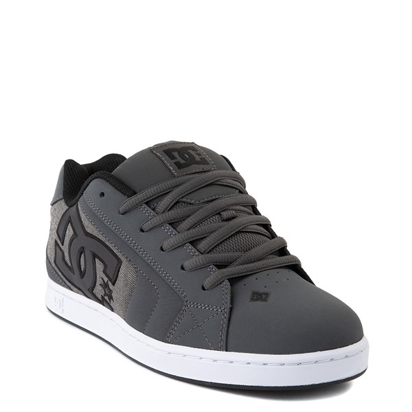alternate view Mens DC Net SE Skate Shoe - Gray / BlackALT1
