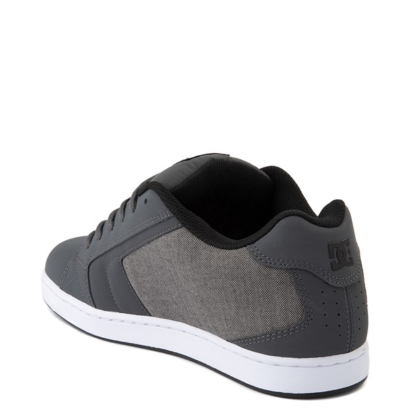 alternate view Mens DC Net SE Skate Shoe - Gray / BlackALT2
