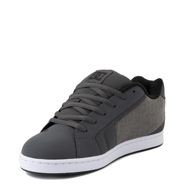alternate view Mens DC Net SE Skate Shoe - Gray / BlackALT3