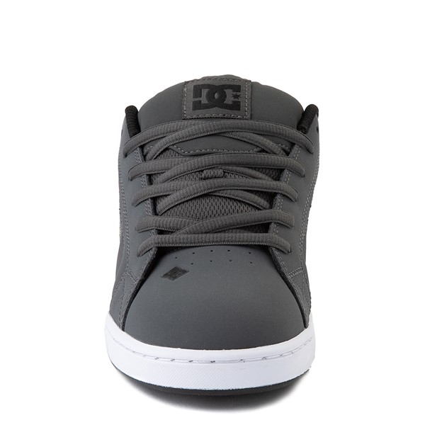 alternate view Mens DC Net SE Skate Shoe - Gray / BlackALT4