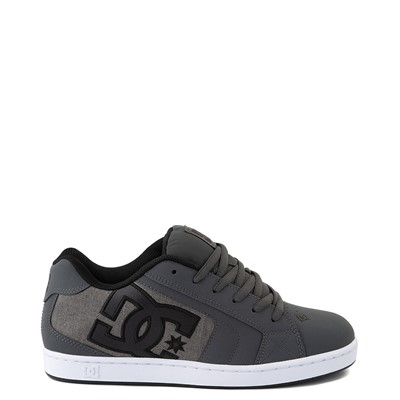 Main view of Mens DC Net SE Skate Shoe - Gray Black / Gray