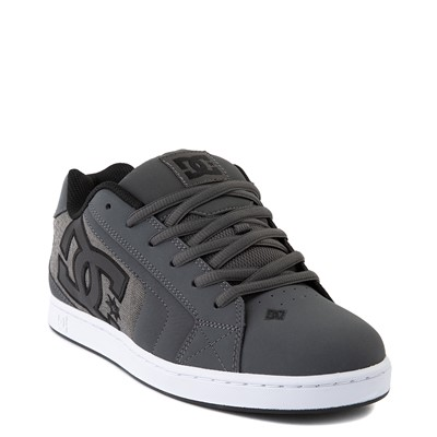 Alternate view of Mens DC Net SE Skate Shoe - Gray / Black