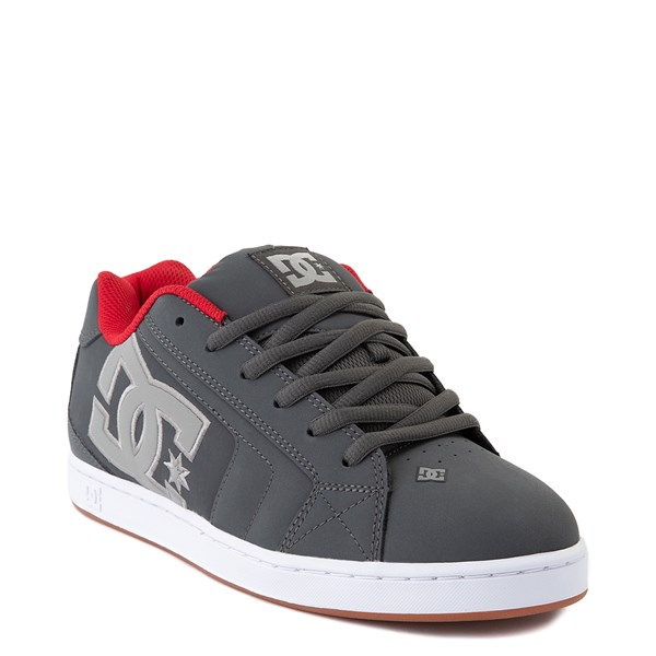 alternate view Mens DC Net Skate Shoe - Gray / Gray / RedALT1