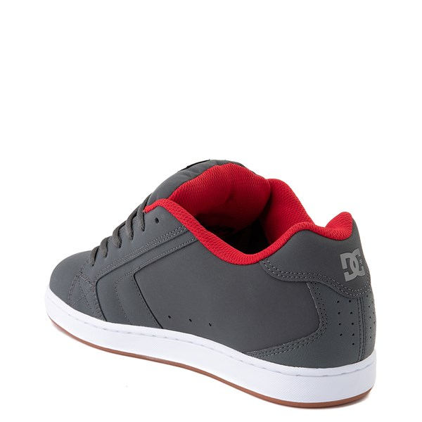 alternate view Mens DC Net Skate Shoe - Gray / Gray / RedALT2